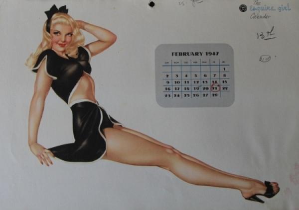 Alberto Vargas Esquire Pin-up Kalender 1947 1