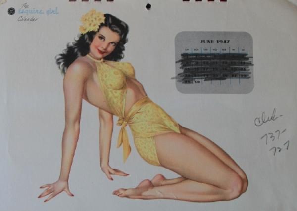 Alberto Vargas Esquire Pin-up Kalender 1947 2