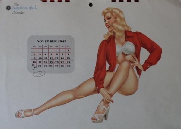 Alberto Vargas Esquire Pin-up Kalender 1947 3