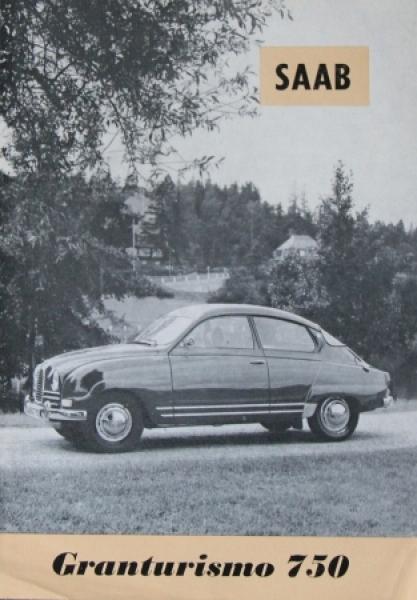Saab Grandtourismo 750 Originalprospekt 1959