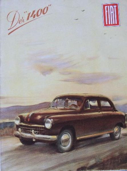 Fiat Model 1400 Automobilprospekt 1949