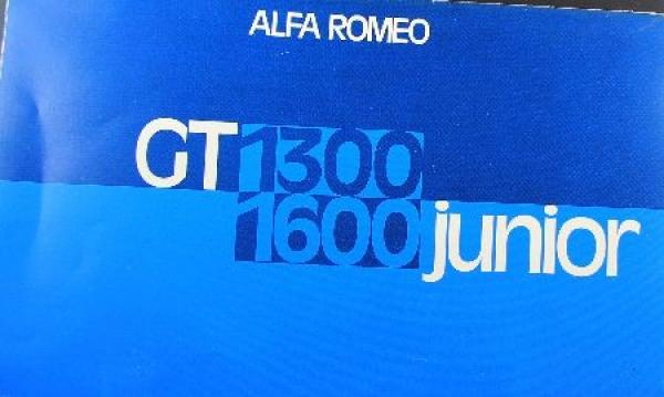 Alfa Romeo Giulia GT 1300 1965 Automobilprospekt