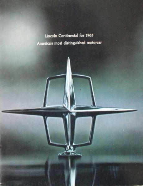 Lincoln Modellprogramm 1965 Automobilprospekt