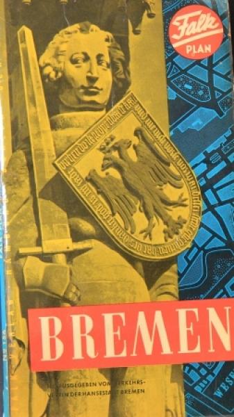 Borgward Falk-Straßenkarte von Bremen 1960