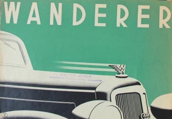 Wanderer Modellprogramm 1936 Automobilprospekt