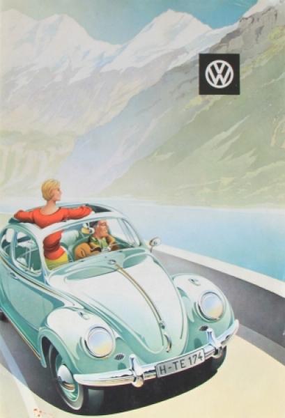 Volkswagen Reuters Modellprogramm 1958 Automobilprospekt