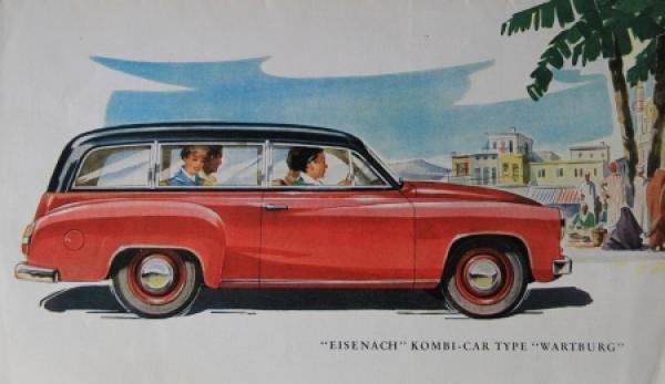 Wartburg Eisenach Kombi-Car 1956 Automobilprospekt