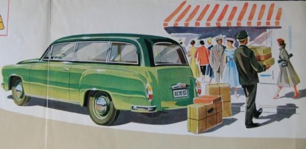 Wartburg Eisenach Kombi-Car 1956 Automobilprospekt 1