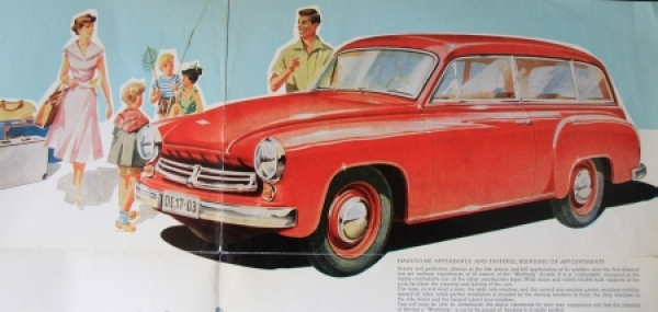 Wartburg Eisenach Kombi-Car 1956 Automobilprospekt 2