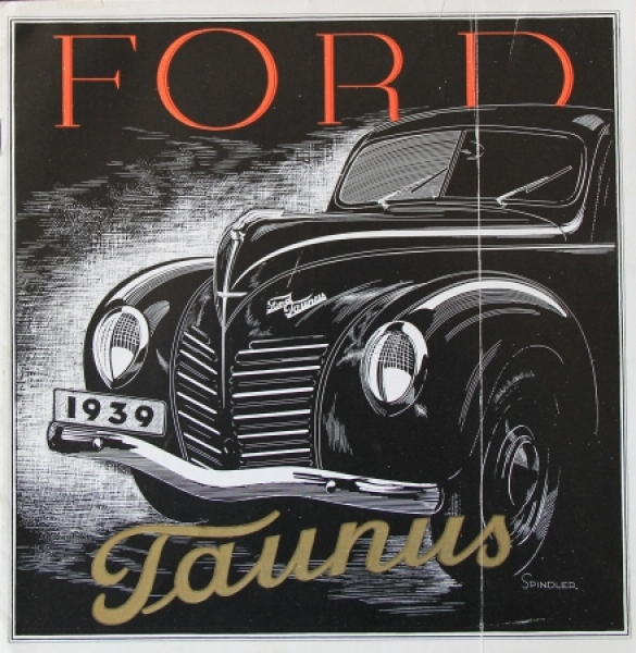 Ford Taunus Modellprogramm 1939 Automobilprospekt