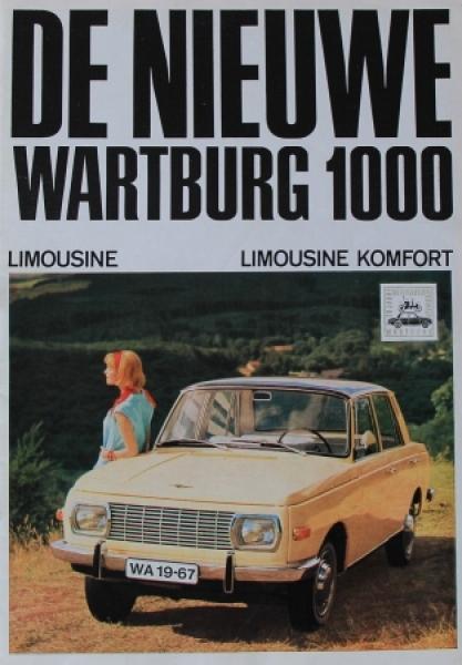 "Wartburg 1000 Limousine ""De nieuwe"" 1965 Automobilprospekt"