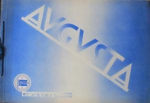 Lancia Augusta Modellprogramm 1933 Automobilprospekt
