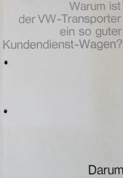 """Volkswagen T1 """"Warum ist der VW-Transporter ein so guter Wagen?"""" 1962 Automobilprospekt"""