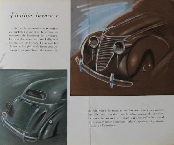 Fiat 2800 Modellprogramm 1939 Automobilprospekt 2
