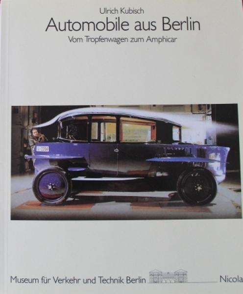 """Kubisch """"Automobile aus Berlin"""" Fahrzeug-Historie 1985"""