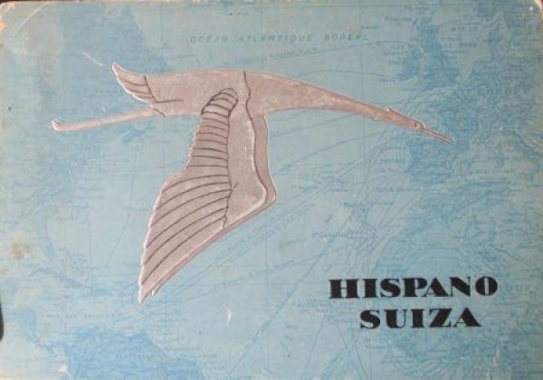 Hispano Suiza Modellprogramm 1933 Geo Ham Automobilprospekt