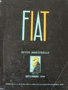 """Fiat Revue"" FIAT-Firmen-Magazin 1934"