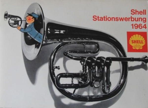 """Shell Stationswerbung 1964"" Shell-Tankstellen-Werbemappe 1964"