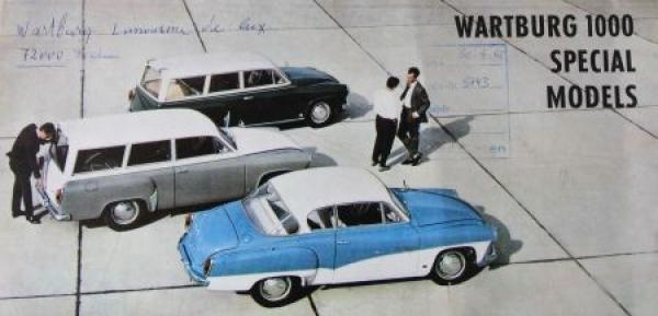 Wartburg 1000 Special-Models 1964 Automobilprospekt