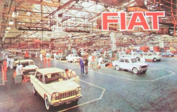 Fiat Modellprogramm 1963 Automobilprospekt