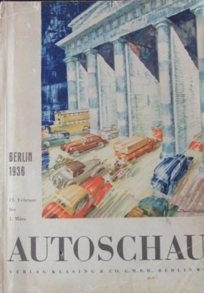 """""""Autoschau Berlin"""" Automobil-Ausstellungskatalog 1936"""