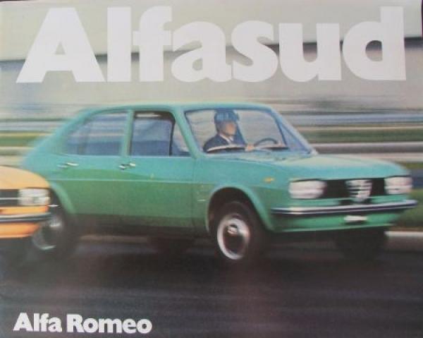 Alfa-Romeo Alfasud Modellprogramm 1972 Automobilprospekt