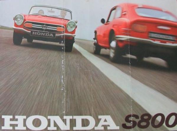 Honda S 800 Coupe-Cabriolet Modellprogramm 1967 Automobilprospekt