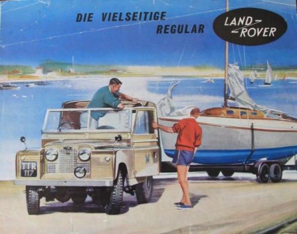 """Land-Rover """"Die Vielseitige Regular"""" 1955 Automobilprospekt"""