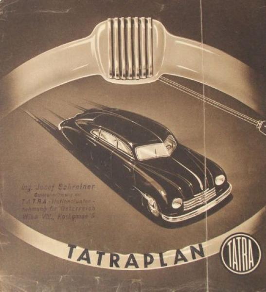 Tatra Tatraplan Modellprogramm 1950 Automobilprospekt