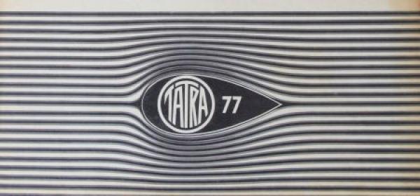 Tatra 77 Modellprogramm 1934 Automobilprospekt