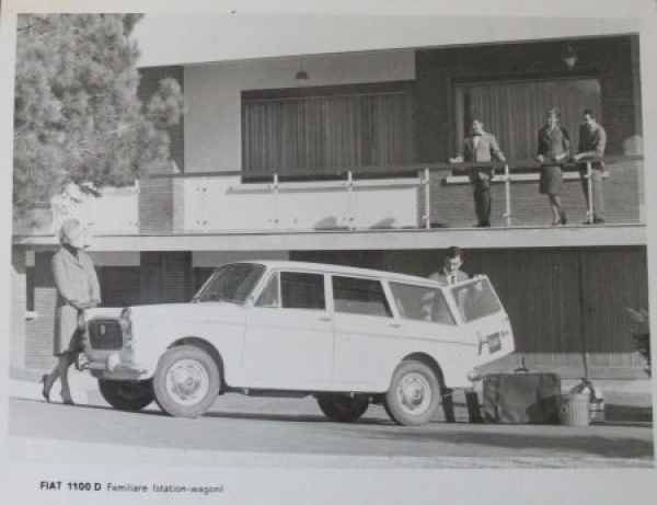 Fiat 1100 D Familare 1966 Werks-Photo