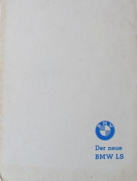 BMW 700 LS Pressemappe 1960 Automobilprospekt
