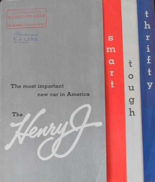 Kaiser-Frazer Henry J 1950 Automobilprospekt