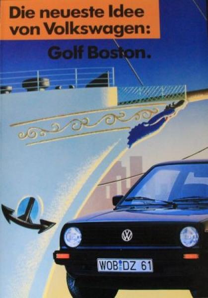 """Volkswagen Golf Boston """"Die neueste Idee"""" 1990 Automobilprospekt"""