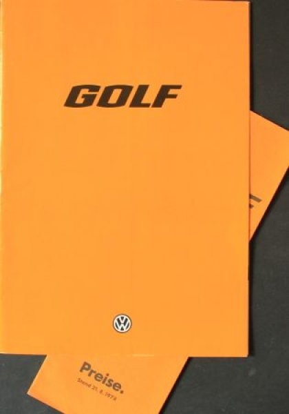 Volkswagen Golf I Modellprogramm 1977 Automobilprospekt