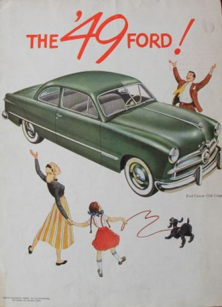 "Ford Modellprogramm ""The 49 Ford !"" 1949 Automobilprospek"