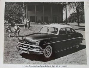 Lincoln Cosmopolitan Sport Sedan 1949 Werksphoto