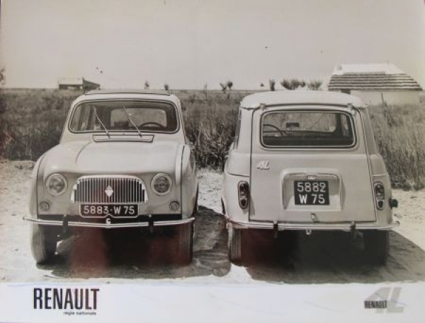 Renault 4 L in der Carmarque September 1961 Werks-Photo