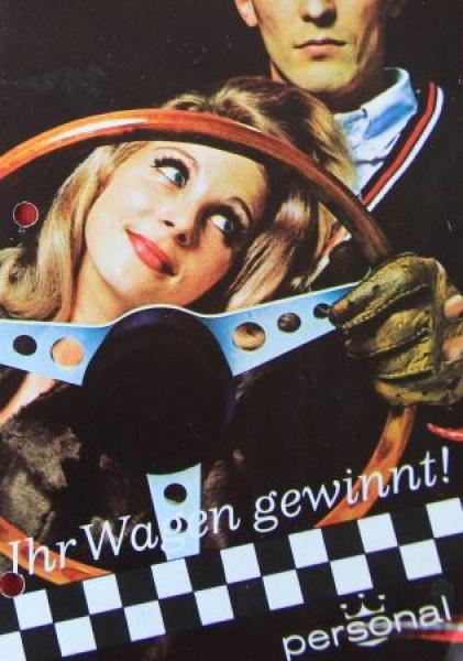 """Personal """"Ihr Wagen gewinnt!"""" Lenkrad-Zubehörprospekt 1968"""