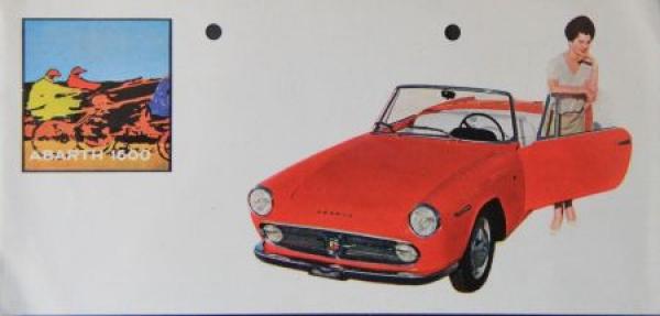 Abarth 1600 Cabriolet 1963 Automobilprospekt