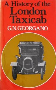"""Georgano """"A history of the London Taxicab"""" Taxi-Historie 1973"""