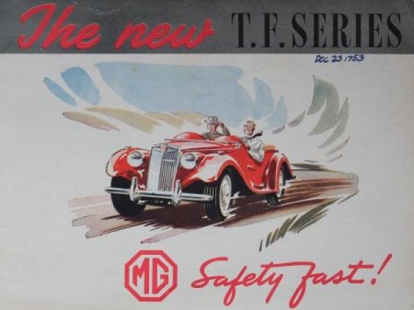 """MG TF """"The new T.F. Series"""" 1953 Automobilprospekt"""