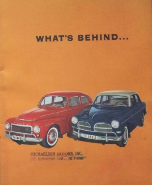 "Volvo Imagebrochure ""What's behind..."" 1959 Automobilprospekt"
