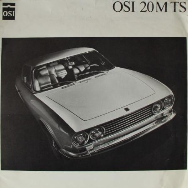 OSI Ford 20M TS Modellprogramm 1967 Automobilprospek