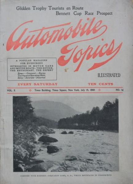 """Automobile Topics"" Automobil-Motorsport-Magazin 1905"