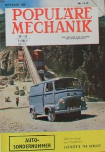 """Populäre Mechanik"" Renault Estafette 1960 Technik-Magazin"