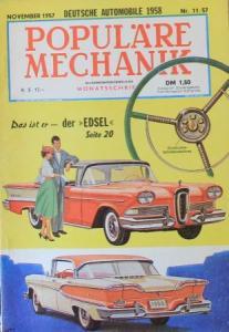 """Populäre Mechanik"" Edsel Ford 1957 Technik-Magazin"