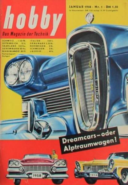 """""""Hobby - Das Magazin der Technik"""" Edsel Ford Dreamcar 1958 Technik-Magazin"""