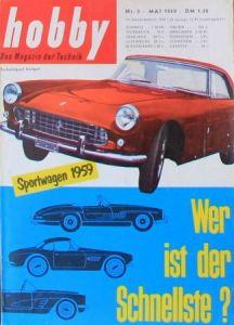 """""""Hobby - Das Magazin der Technik"""" Ferrari Sportwagen 1959 Technik-Magazin"""