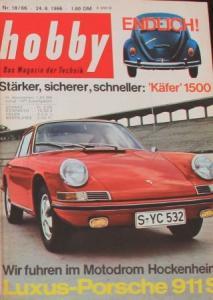"""Hobby - Das Magazin der Technik"" Porsche 911 S 1966 Technik-Magazin"